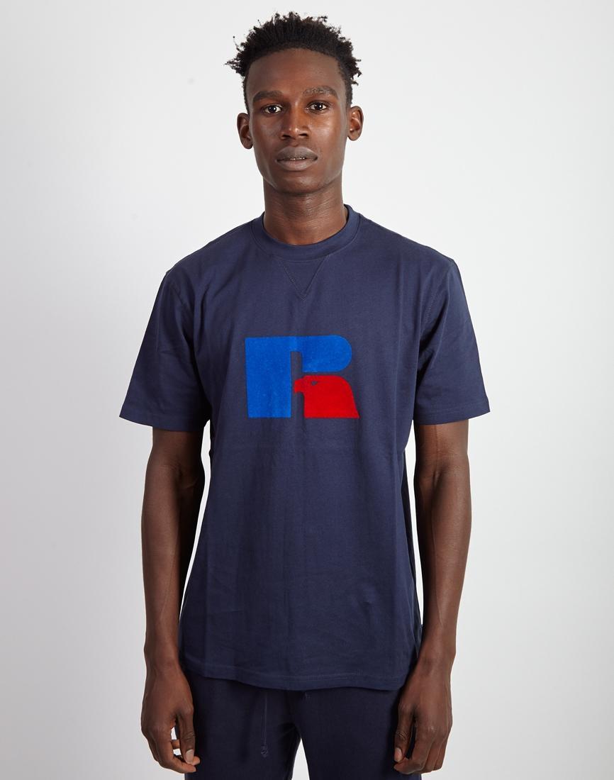 7d5664d2556d Russell Athletic - Blue Jerry High Neck T-shirt Navy for Men - Lyst. View  fullscreen