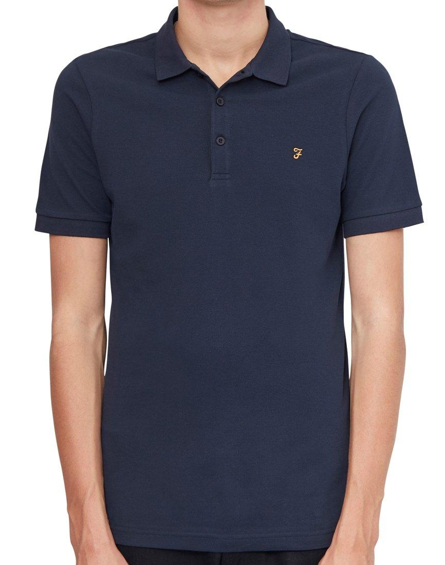 1ef5a1520d1a Farah Blaney Short Sleeve Polo Shirt Navy in Blue for Men - Lyst