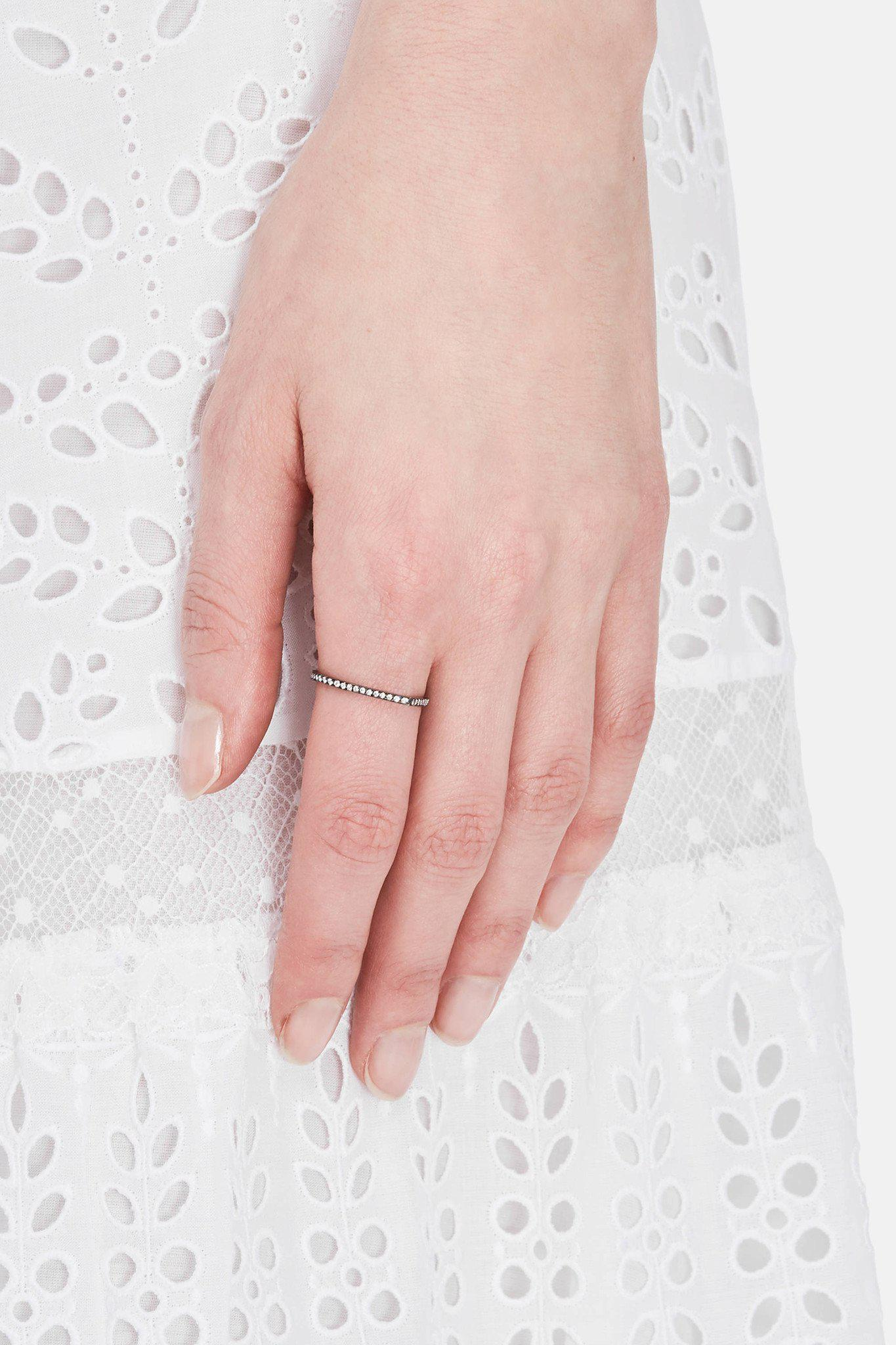 Lyst - Repossi 1 Row Antifer Gold Half Pave With Diamonds Ring in ...