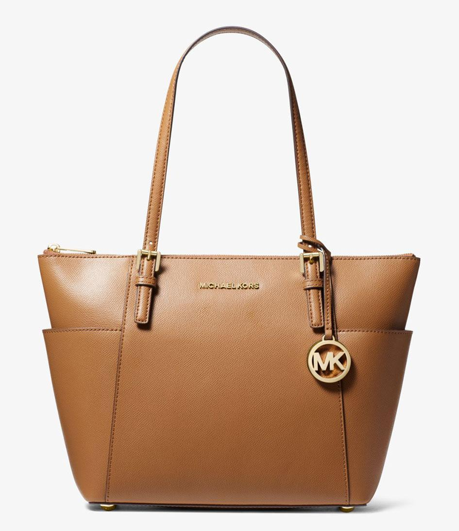 9f9ef1897784 Michael Kors - Brown Jet Set Item Ew Top Zip Tote - Lyst. View fullscreen