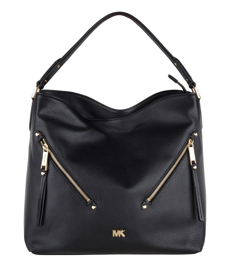 fc1024a6ceac Lyst - Michael Kors Evie Large Hobo in Black