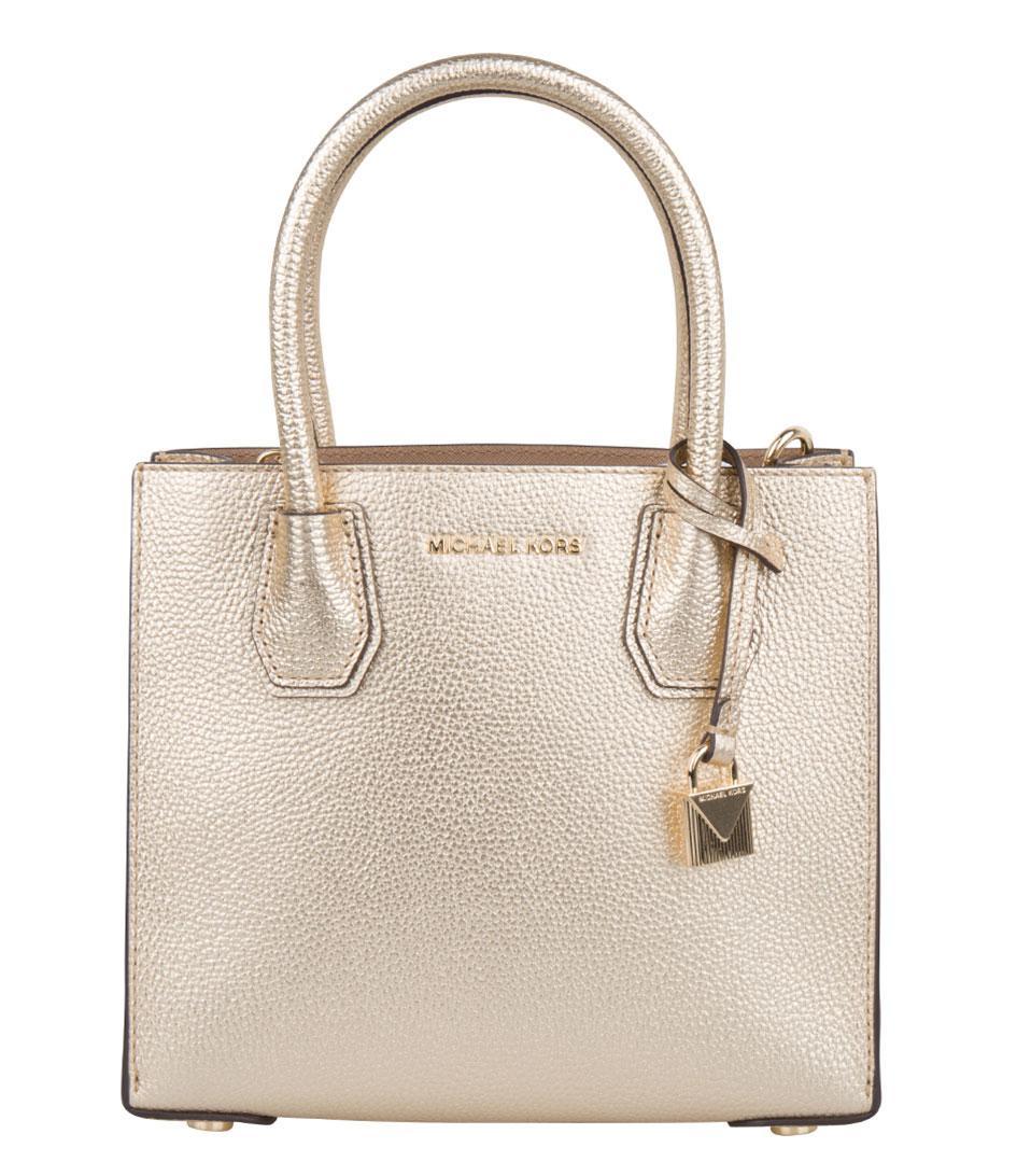 3c9f8461331 Michael Kors. Women's Metallic Mercer Medium Messenger. £213 From The  Little Green Bag