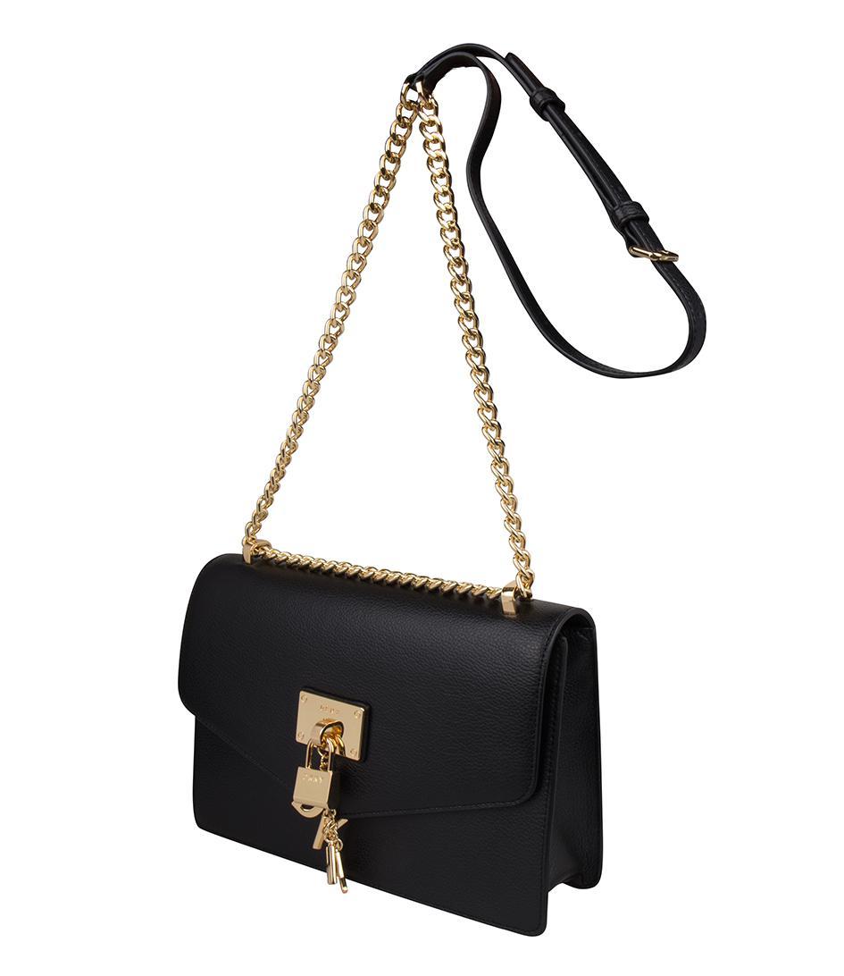 885eca1b5 DKNY Elissa Large Shoulder Bag in Black - Lyst
