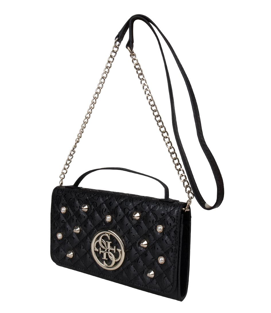 d0fce0ff38 Lyst - Guess Gioia Wallet On A String in Black 661b4516af ...
