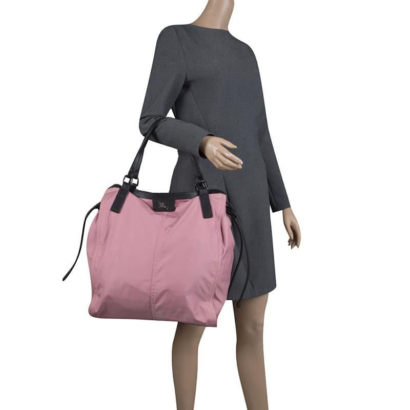 Lyst - Burberry Nylon Buckleigh Packable Tote in Pink ed0af9ad1f103