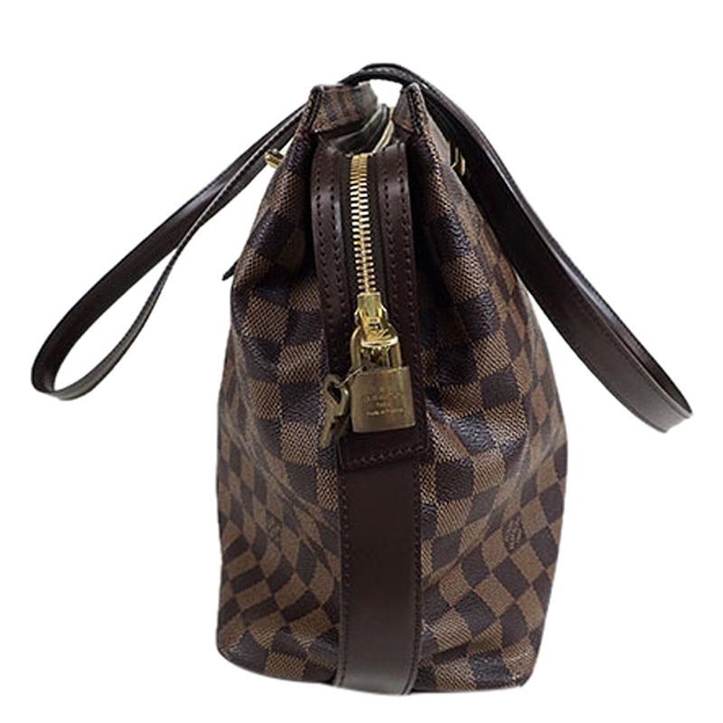 b2345ab7ae87 Lyst - Louis Vuitton Damier Ebene Canvas Chelsea Bag in Brown