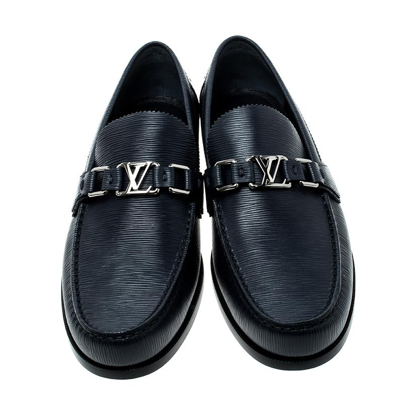 428c08f48eb60 Louis Vuitton Epi Leather Major Loafers in Blue for Men - Lyst