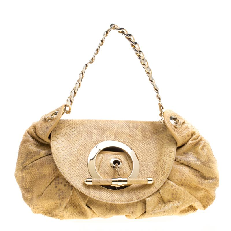 aa9b613dc7a8 Lyst - Dior Python Limited Edition 028 Hobo in Natural