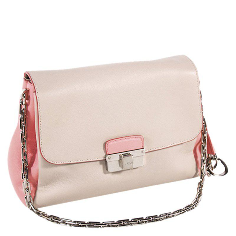 9a297dfed06 Dior - Pink Bi Color Soft Calfskin Leather Ling Flap Bag - Lyst. View  fullscreen