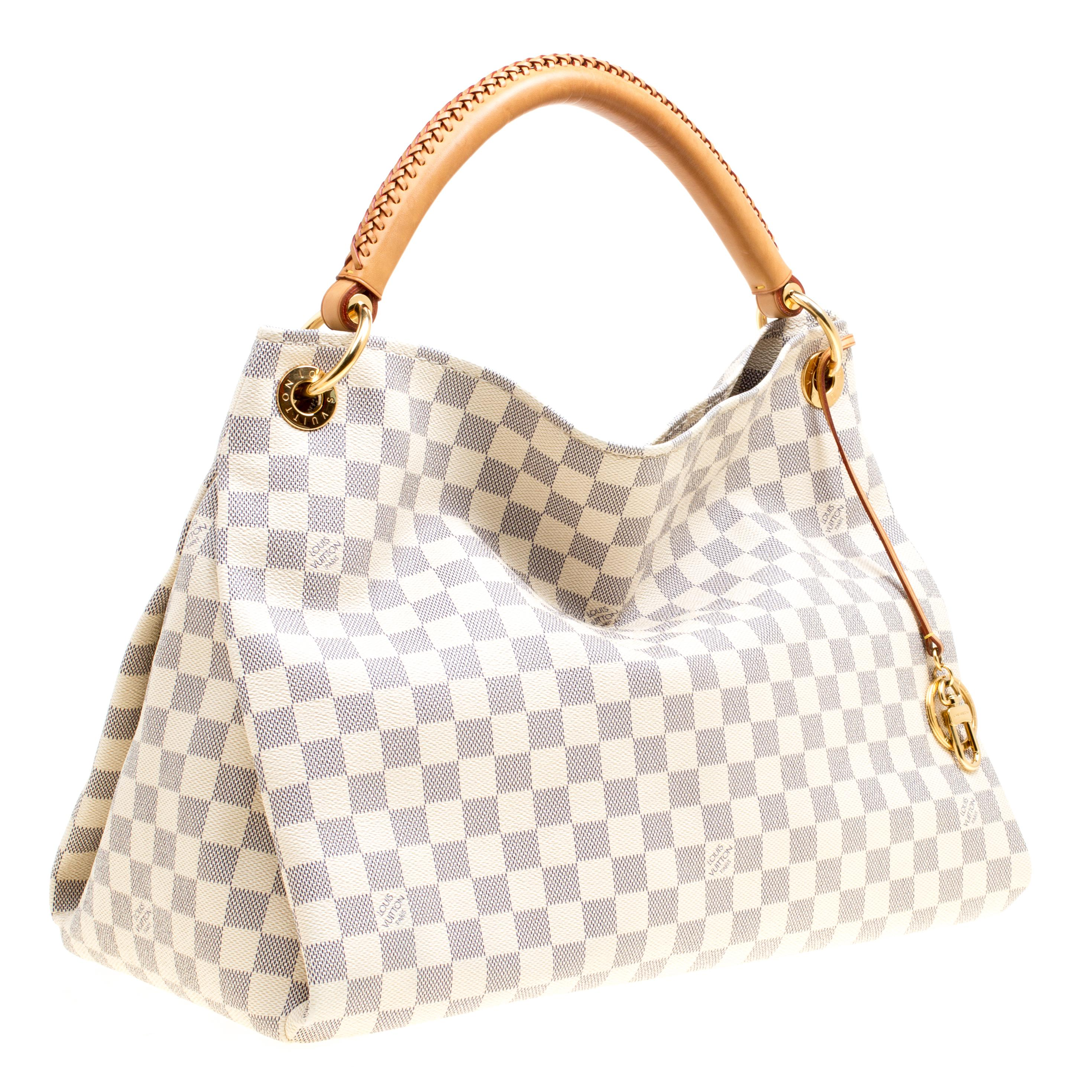 2fa13466bdd7 Lyst - Louis Vuitton Damier Azur Canvas Artsy Mm Bag in Gray