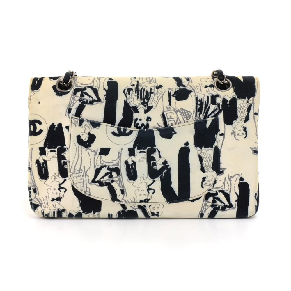 7aeec52e9283 Lyst - Chanel Bicolor Printed Canvas Limited Edition Karl Lagerfeld ...