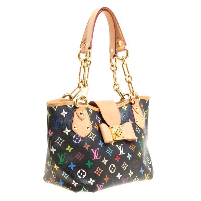 b3e2610611 Louis Vuitton Black Multicolor Monogram Canvas And Leather Annie Mm ...