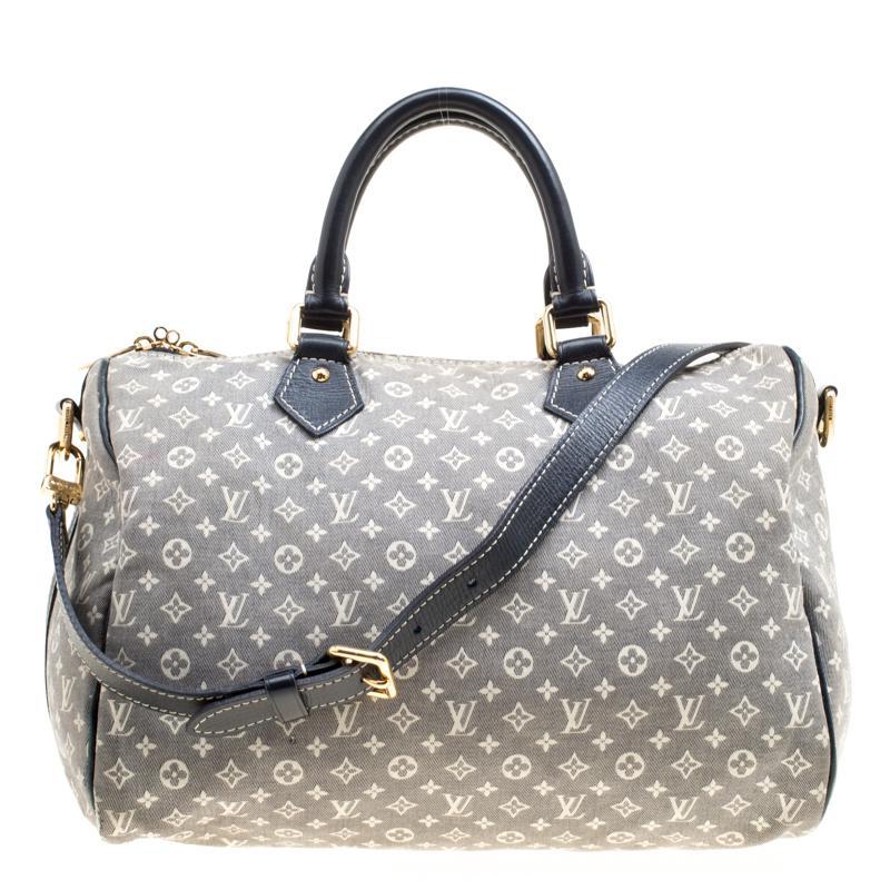 f45c76fb3e9c Louis Vuitton. Women s Gray Encre Monogram Idylle Speedy Bandouliere 30 Bag