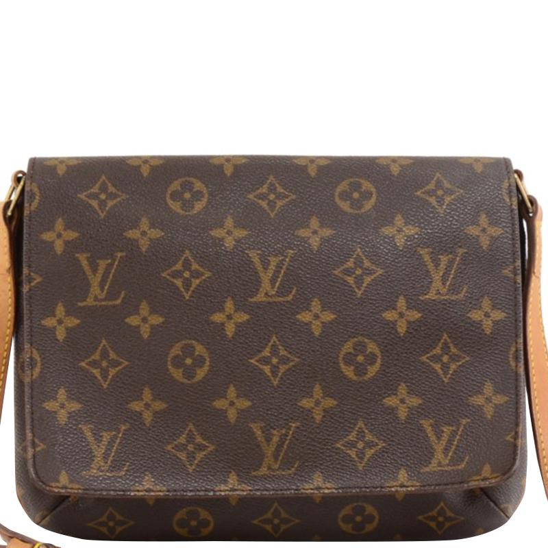 aa52d730846e Lyst - Louis Vuitton Monogram Canvas Musette Tango in Brown