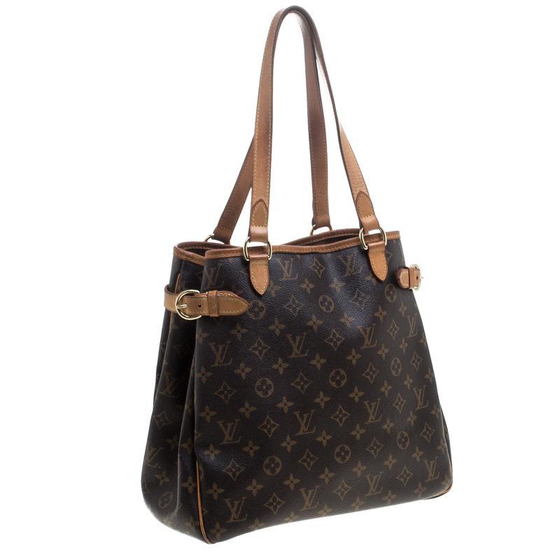 1f6446292955 Louis Vuitton - Brown Monogram Canvas Batignolles Vertical Bag - Lyst. View  fullscreen