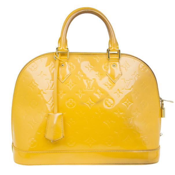 0e6ceeb1fa72 Louis Vuitton Vernis Monogram Alma Pm in Yellow - Lyst
