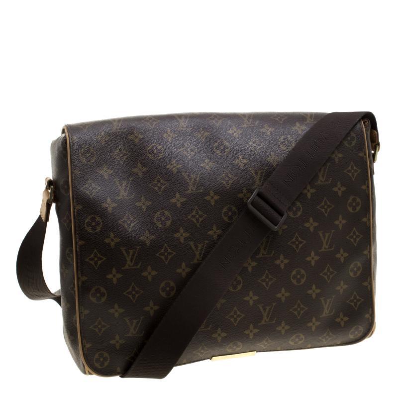c1b3135830c6 Lyst - Louis Vuitton Monogram Canvas Abbesses Messenger Bag in Brown ...