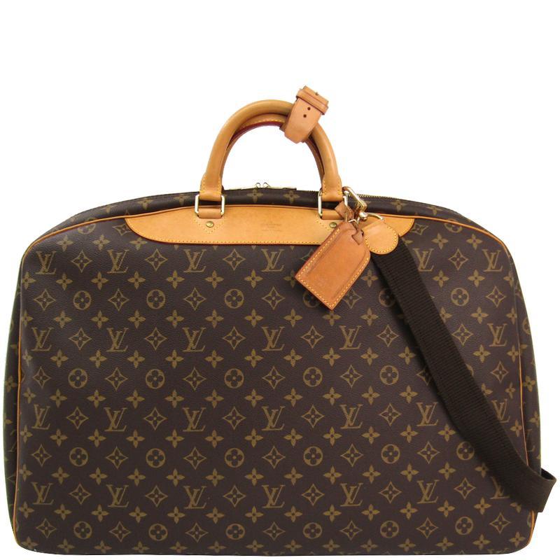 d13d77c78cbd Louis Vuitton. Women s Brown Monogram Canvas Alize 1 Poche Soft Suitcase