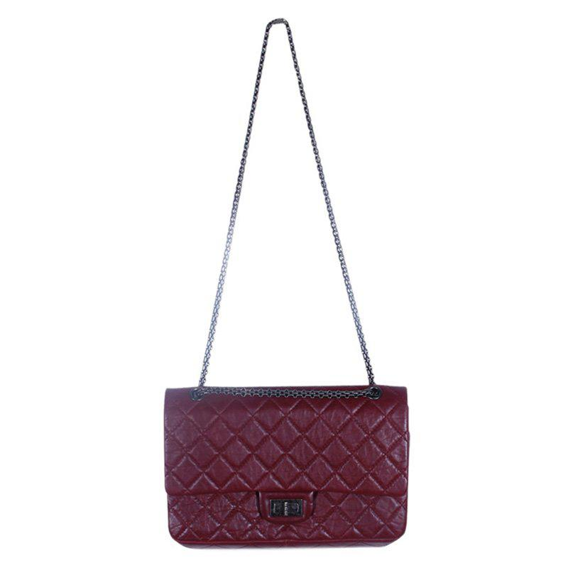 Chanel Quilted Aged Calfskin 226 Reissue 2.55 Flap Bag in Purple - Lyst 41b1c74f19151