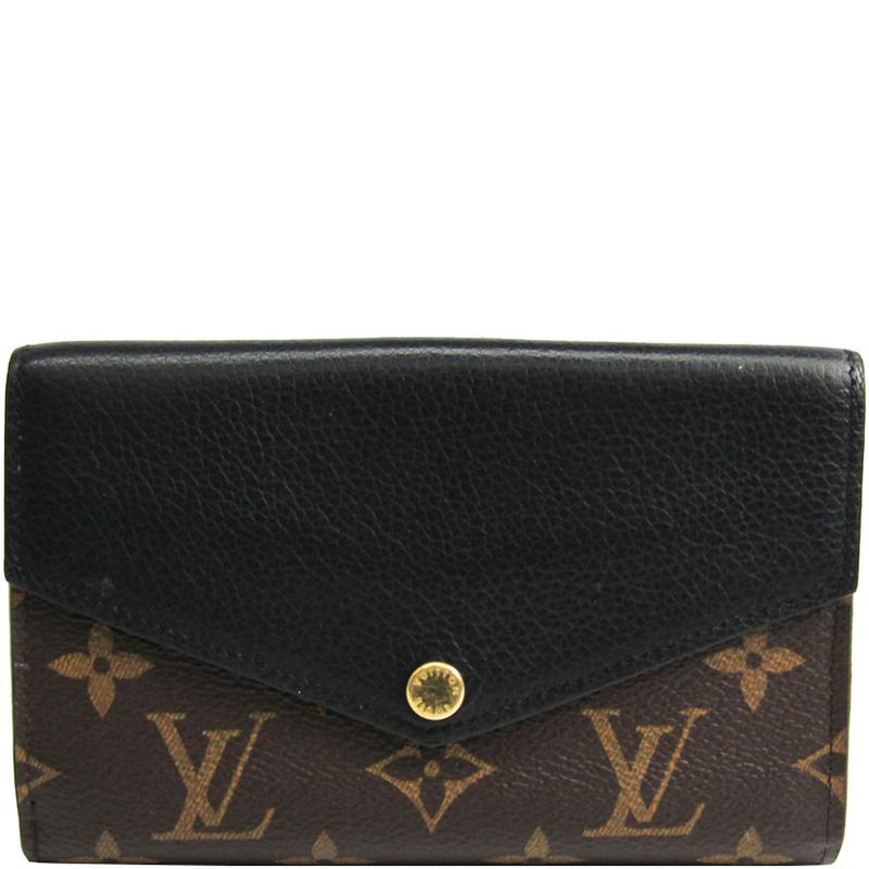 5828ee9f5c1b Louis Vuitton Noir Monogram Canvas Pallas Compact Wallet in Black - Lyst