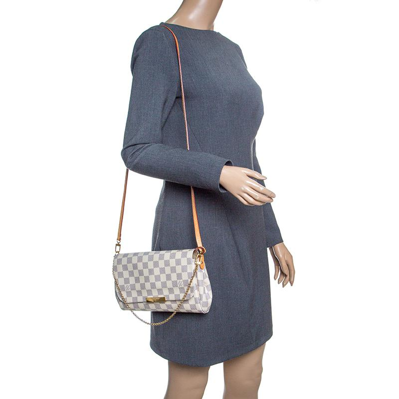 a46f09a67550 Lyst - Louis Vuitton Damier Azur Monogram Canvas Favorite Mm ...