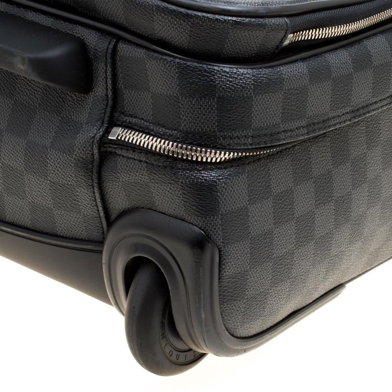 96cb36dfdf4 Lyst - Louis Vuitton Damier Graphite Canvas Pilot Case Luggage in ...