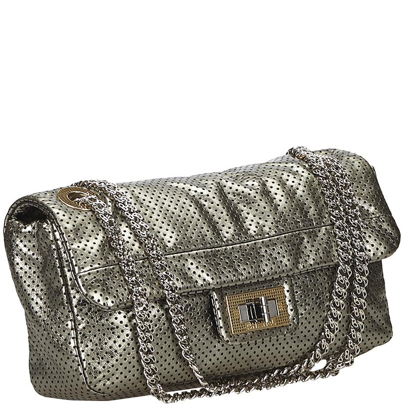 951a9028cbc0 Chanel - Metallic Drill Perforated Leather Classic Flap Bag - Lyst. View  fullscreen