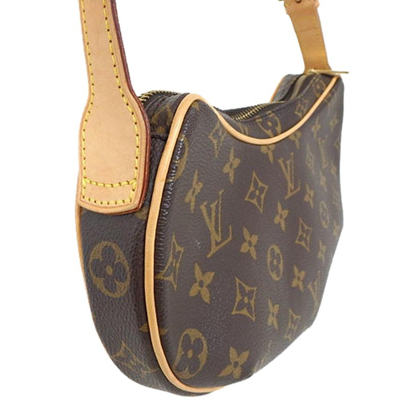 77b4cf4d16eb Louis Vuitton - Brown Monogram Canvas Croissant Pm Bag - Lyst. View  fullscreen