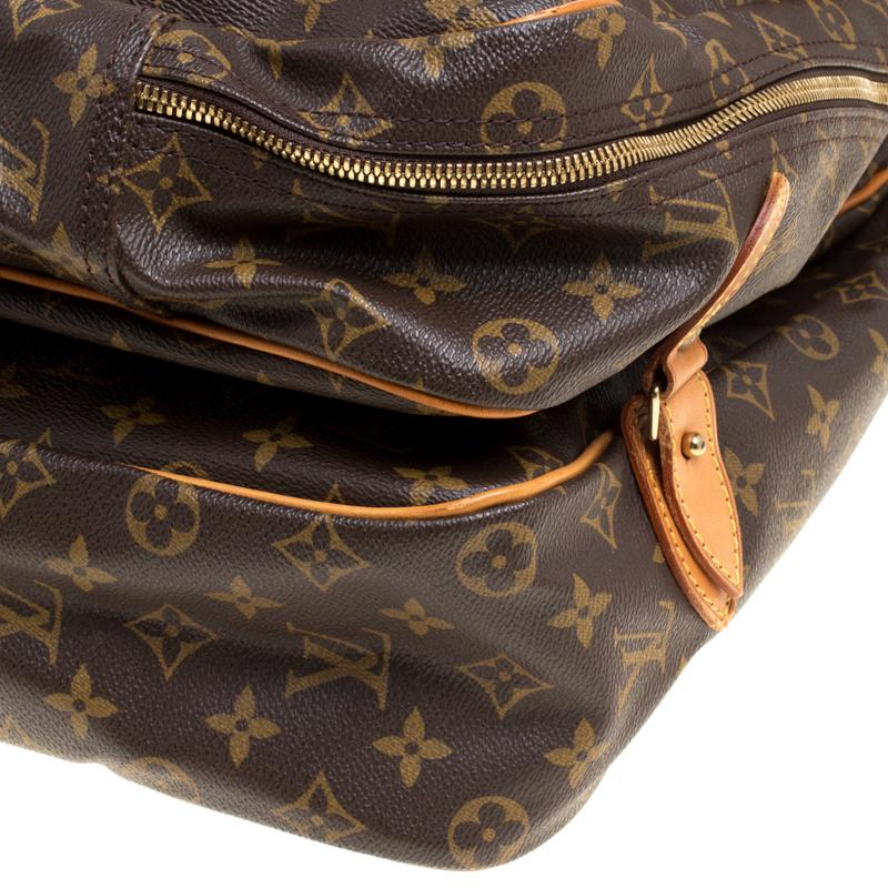 0f9a837146c Lyst - Louis Vuitton Monogram Canvas Sac Chasse Hunting Bag in Brown