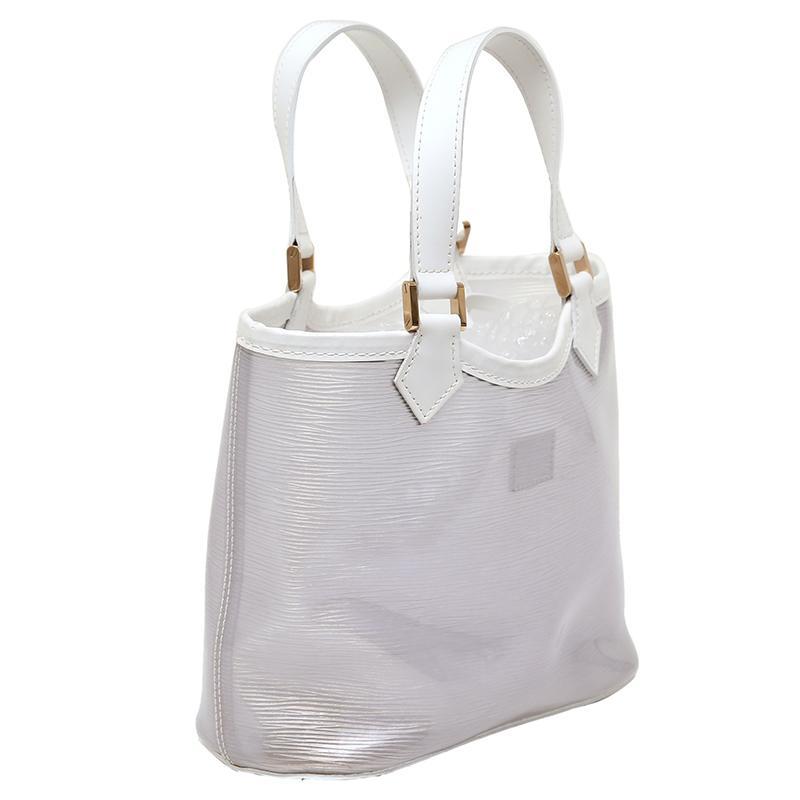 Louis Vuitton - White Vinyl Epi Plage Leather Mini Lagoon Bay Bag - Lyst.  View fullscreen 3b925457c6491