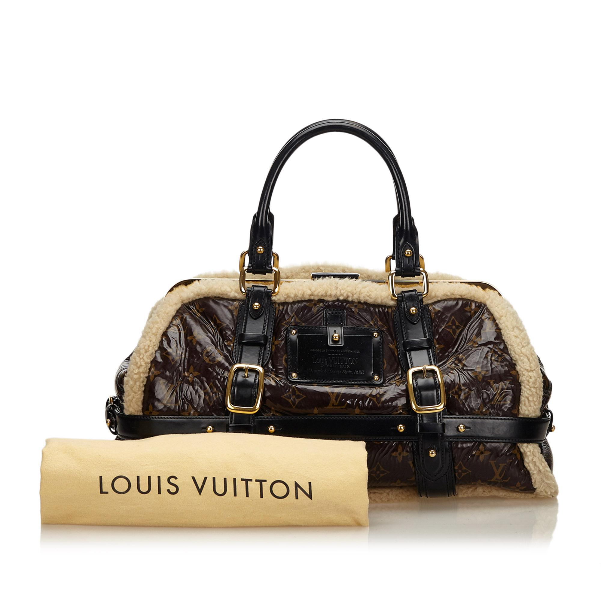 c7d8807b2081 Louis Vuitton Monogram Patent Leather Limited Edition Shearling ...