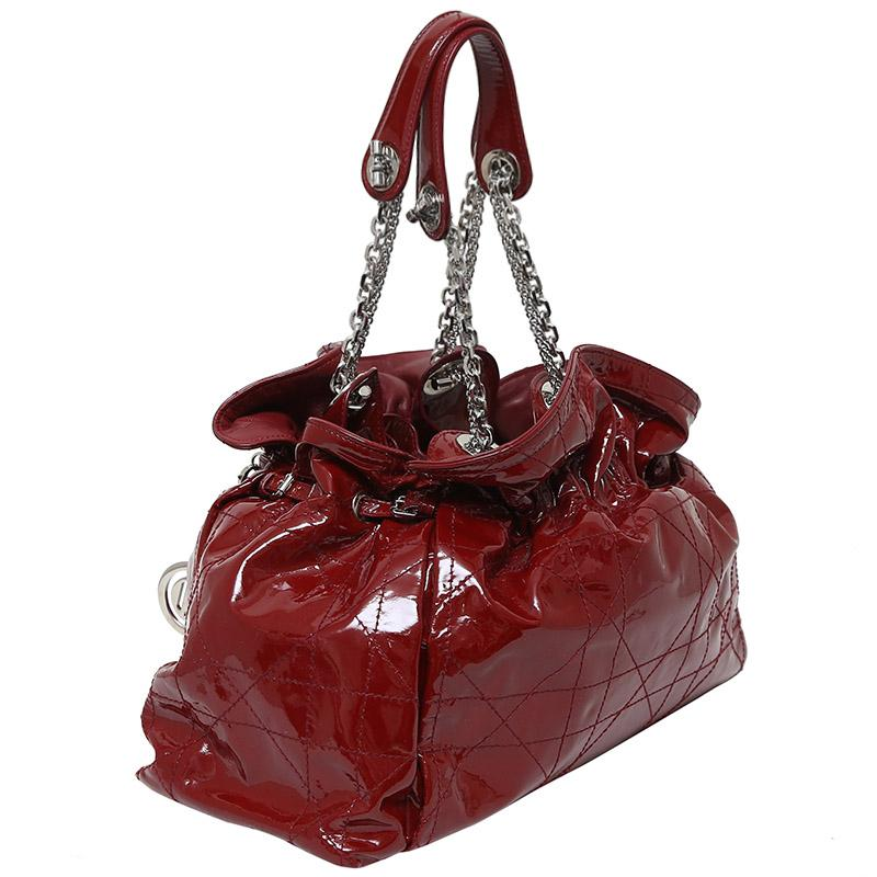 c20d4e8359 Dior - Red Cannage Quilted Patent Leather Le Trente Bag - Lyst. View  fullscreen
