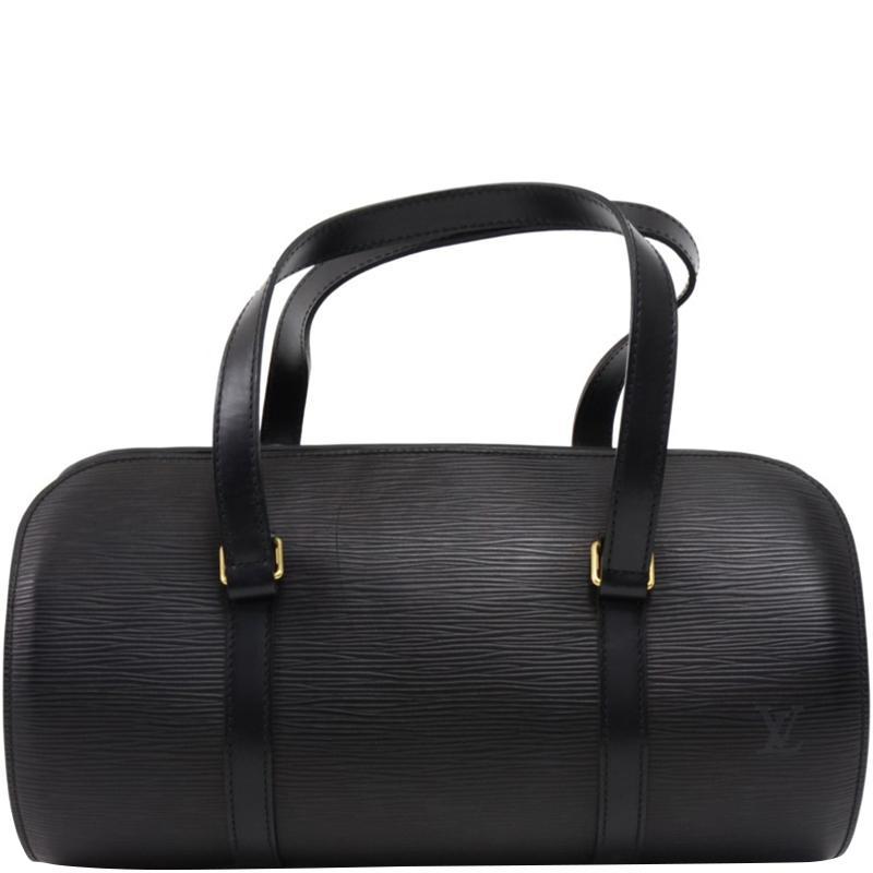 542b3ba1d6a Louis Vuitton Noir Epi Leather Soufflot Bag in Black - Save 19% - Lyst