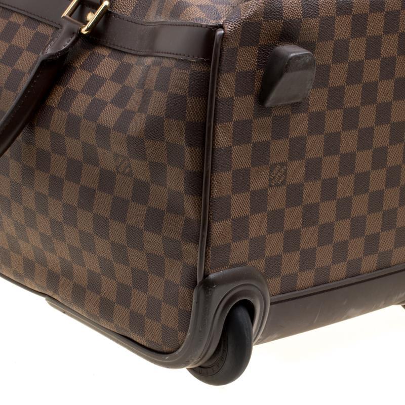 c44c59e8c026b Louis Vuitton - Brown Damier Canvas Eole 50 Rolling Luggage - Lyst. View  fullscreen