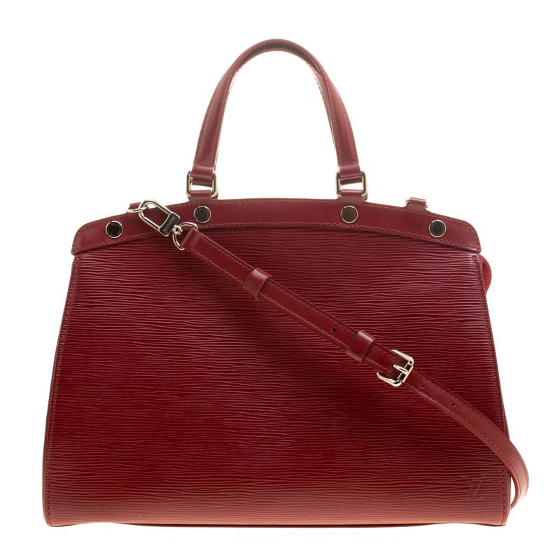 d26acd47d51 Louis Vuitton Red Epi Leather Brea Mm Bag in Red - Lyst
