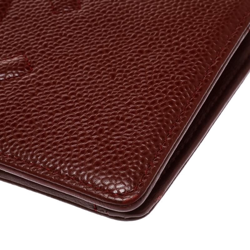 31b78ad55967 Chanel - Multicolor Burgundy Caviar Leather Cc Long Bifold Wallet - Lyst.  View fullscreen
