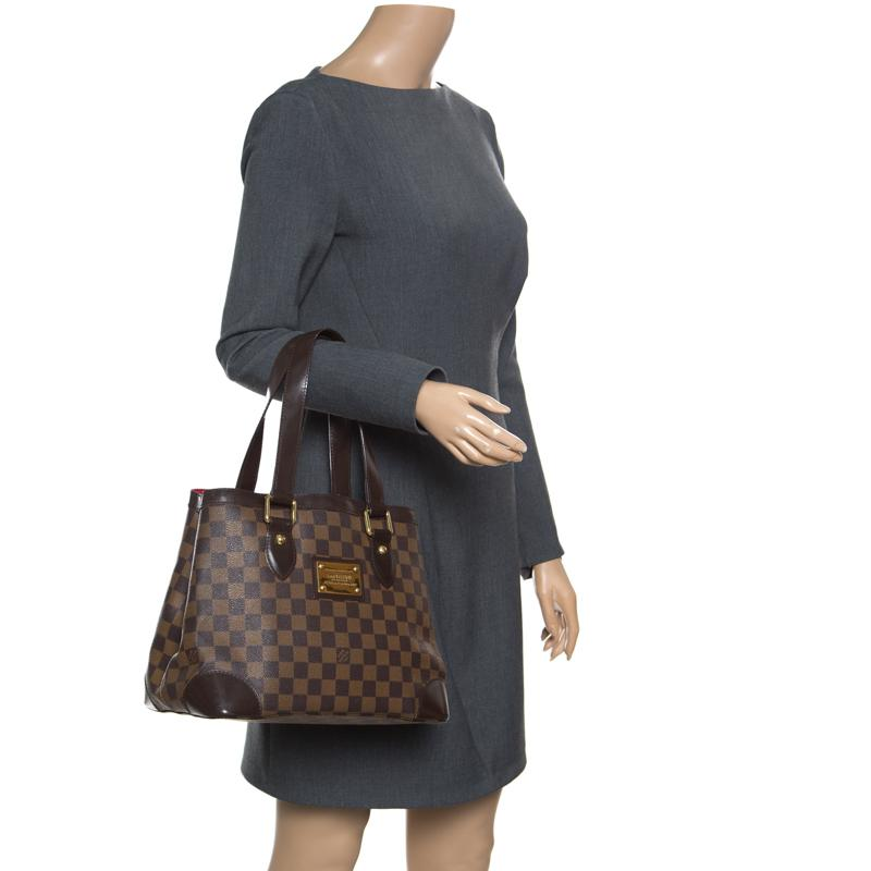 Louis Vuitton - Brown Damier Ebene Canvas And Leather Hampstead Pm Bag -  Lyst. View fullscreen ac615b85b1ac2