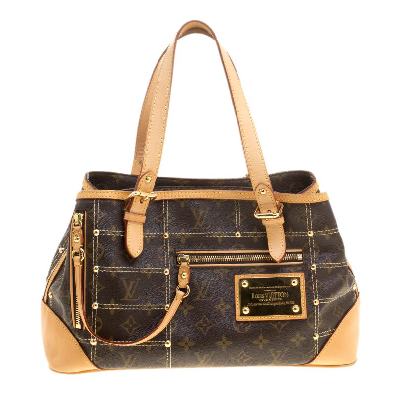 6553dbcc83fa Louis Vuitton Monogram Canvas Limited Edition Riveting Bag in Brown ...