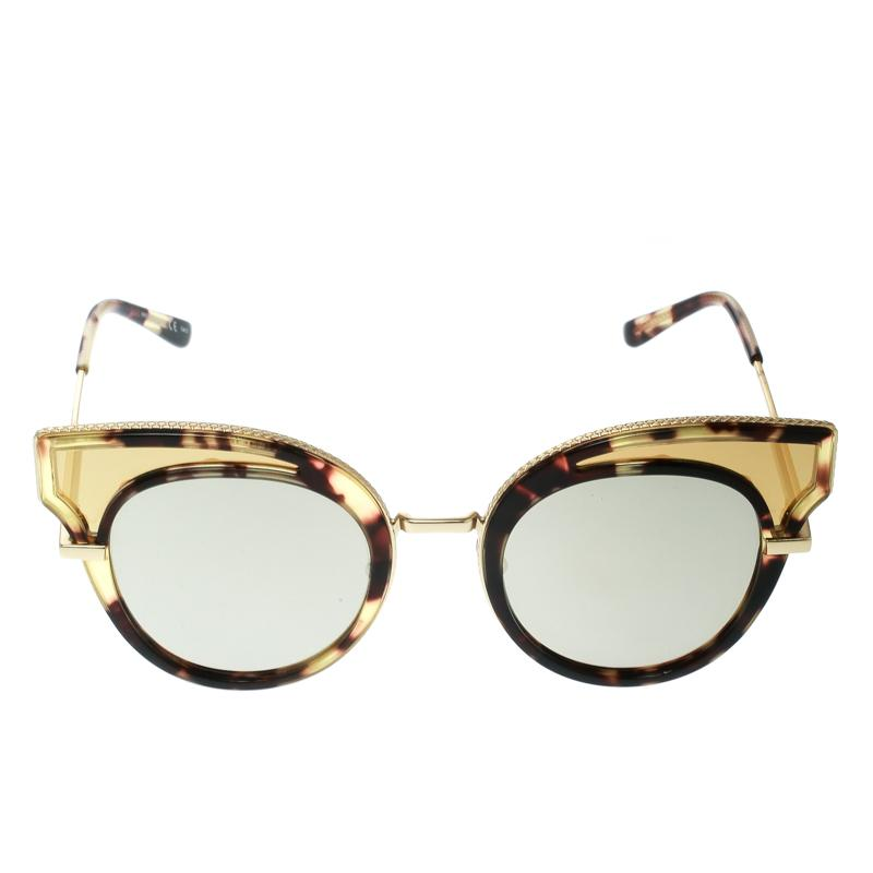 21f487fd5c Bottega Veneta - Black Gold  Mirrored Bv0094s Cat Eye Sunglasses - Lyst.  View fullscreen