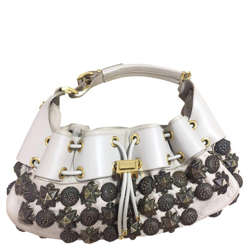 Burberry - Multicolor Ivory Leather Mason Warrior Hobo - Lyst. View  fullscreen da34e06faafbb