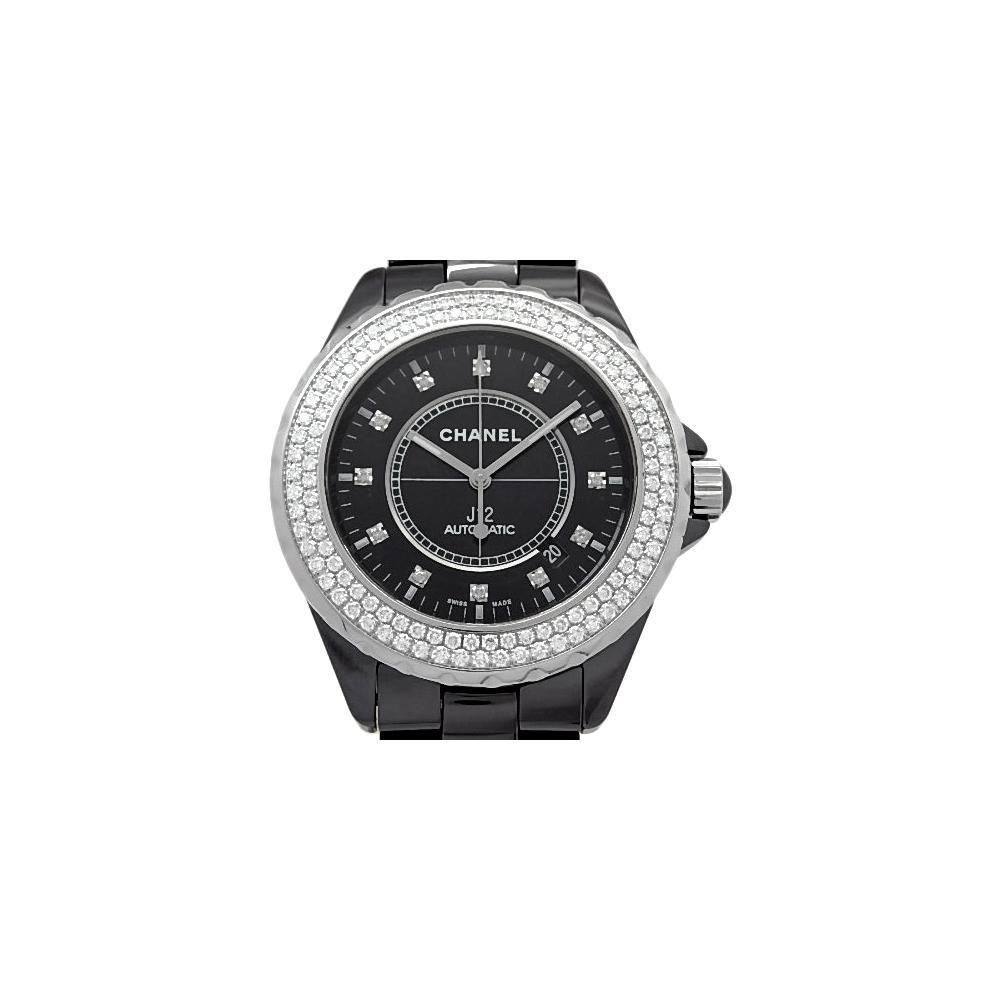 2df130380ea Chanel - Black Ceramic And Stainless Steel Diamond J12 Men s Wristwatch  42mm for Men - Lyst. View fullscreen