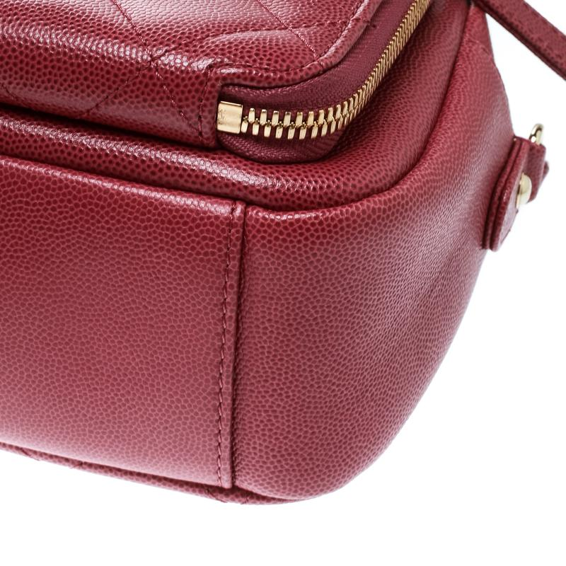 10bc6ce3971a Chanel Quilted Leather Business Affinity Camera Case Shoulder Bag in ...
