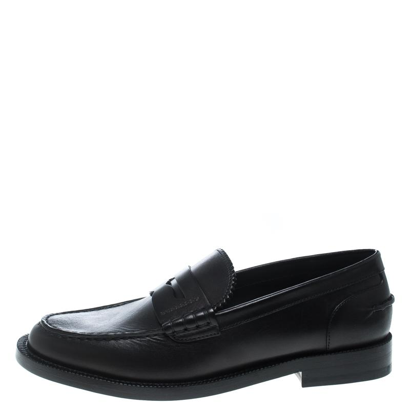 42cf65f4d47 Burberry - Black Leather Bedmont Penny Loafers - Lyst. View fullscreen