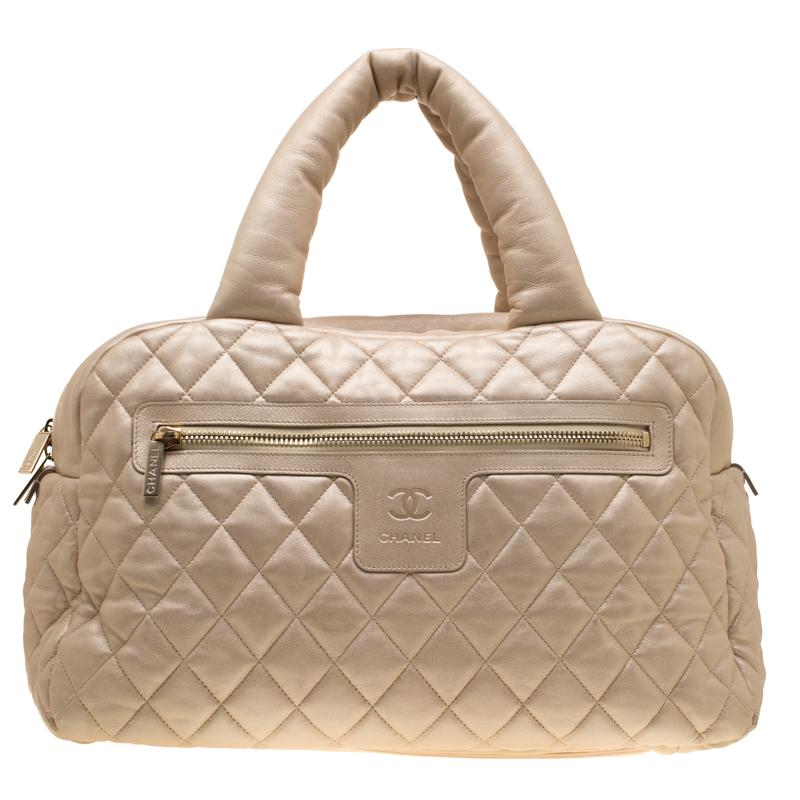 87a2244c7b24 Chanel - Metallic Iridescent Quilted Leather Coco Cocoon Bowler Bag - Lyst.  View fullscreen
