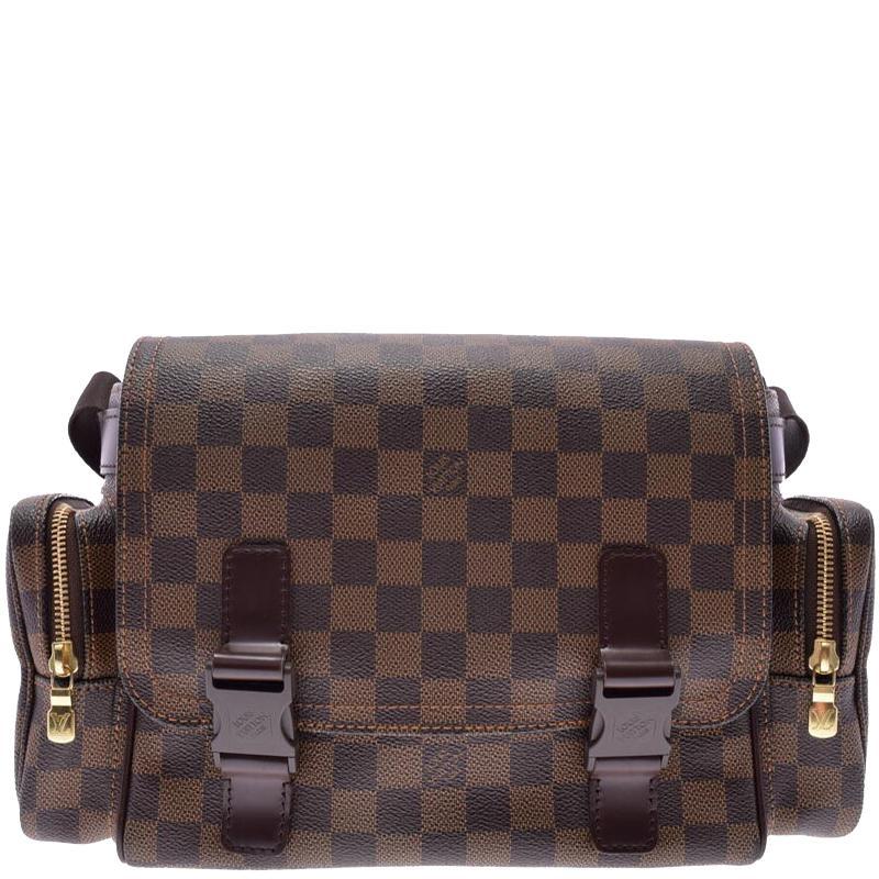 af85d001c Louis Vuitton Damier Ebene Canvas Melville Reporter Bag in Brown for ...