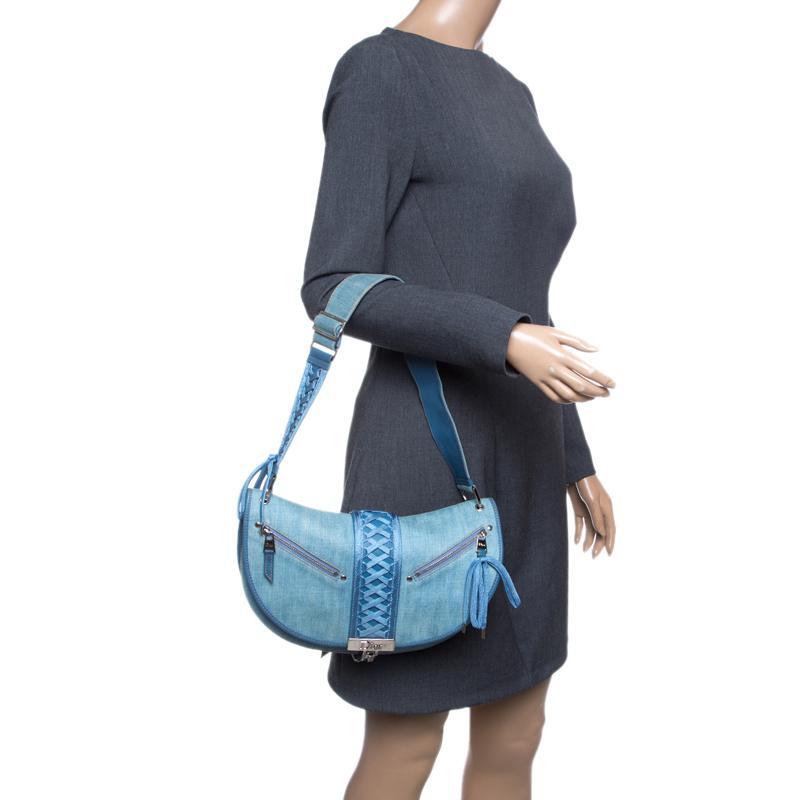 Dior - Blue Denim Shoulder Bag - Lyst. View fullscreen 2cee4e8c9ac57