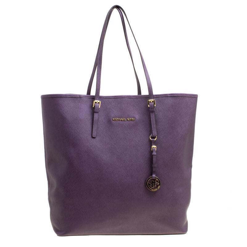 80010a195b31 MICHAEL Michael Kors Purple Leather Shopper Tote in Purple - Lyst