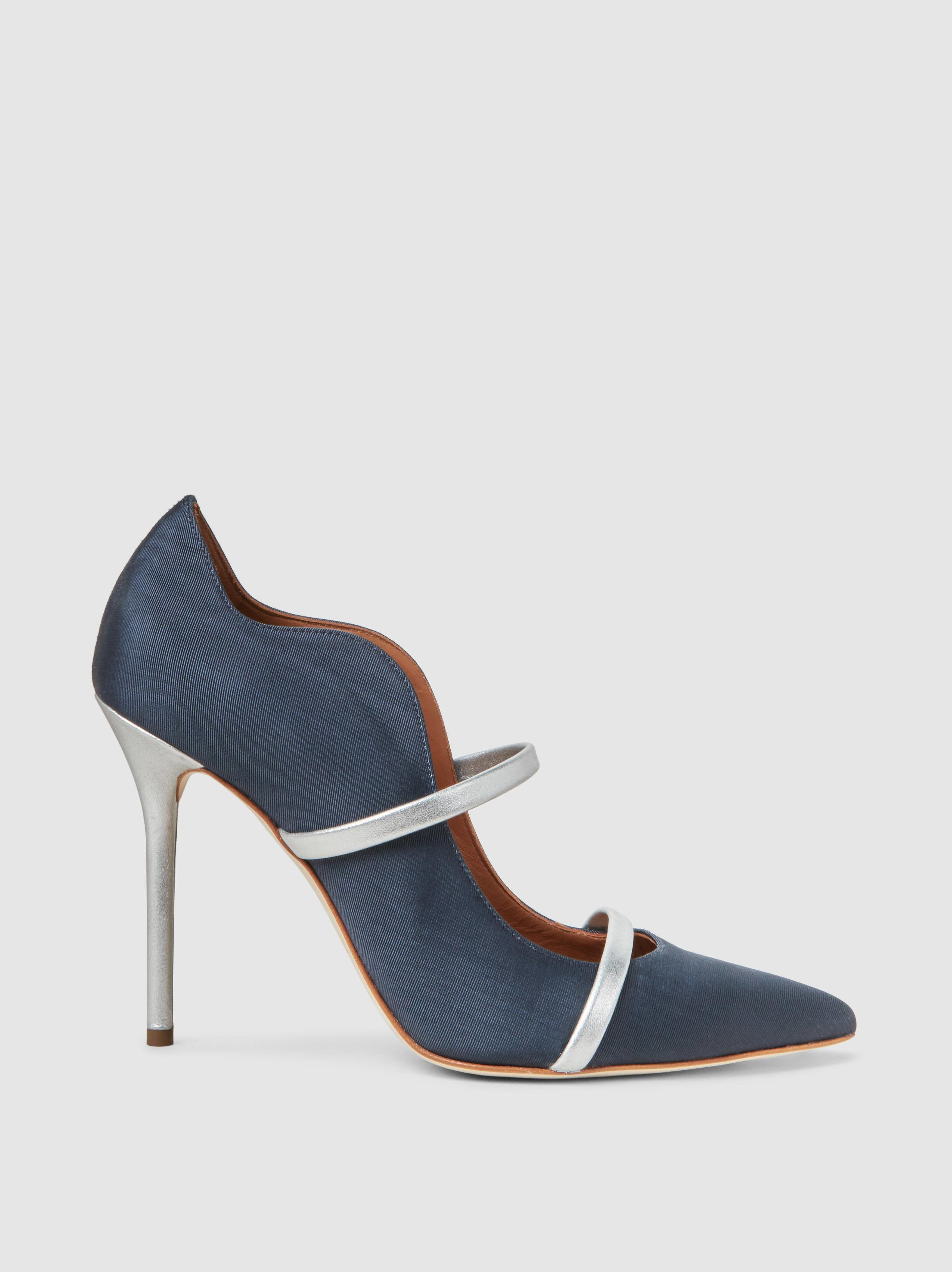 Malone Souliers Woman Leather And Suede Platform Sandals Blue Size 40 Malone Souliers Clearance Cost Clearance Low Shipping Fee Really Cheap Shoes Online Cheap For Sale SKjQ8