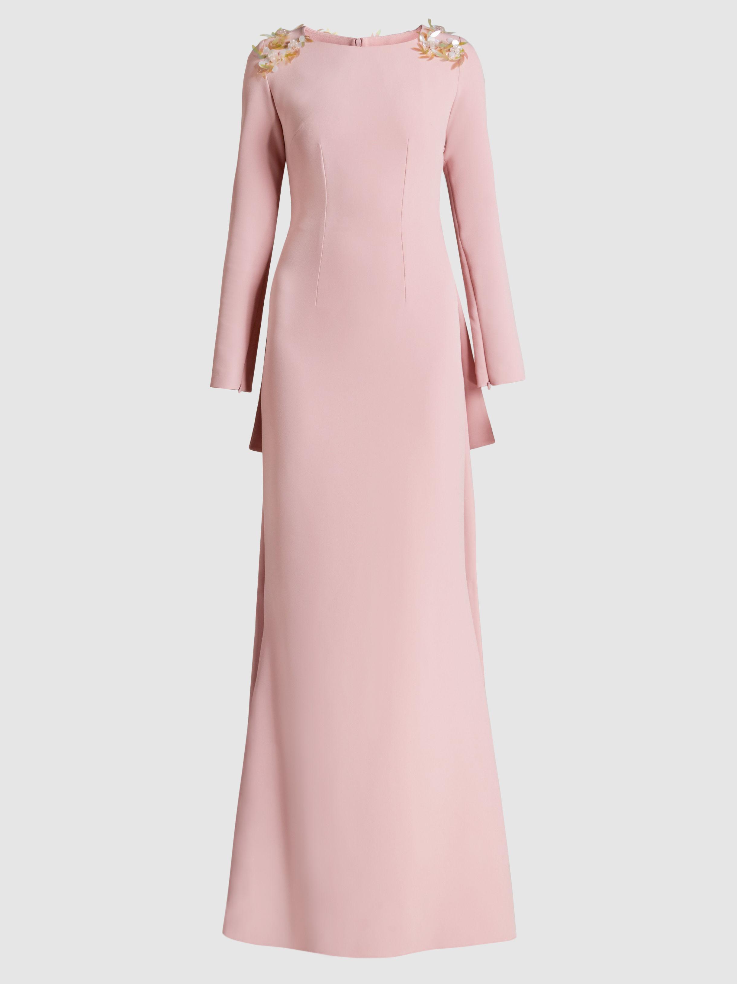 Safiyaa Woman Cutout Paneled Cold-shoulder Crepe Gown Lilac Size 36 SAFiYAA Bg3bLjj1po