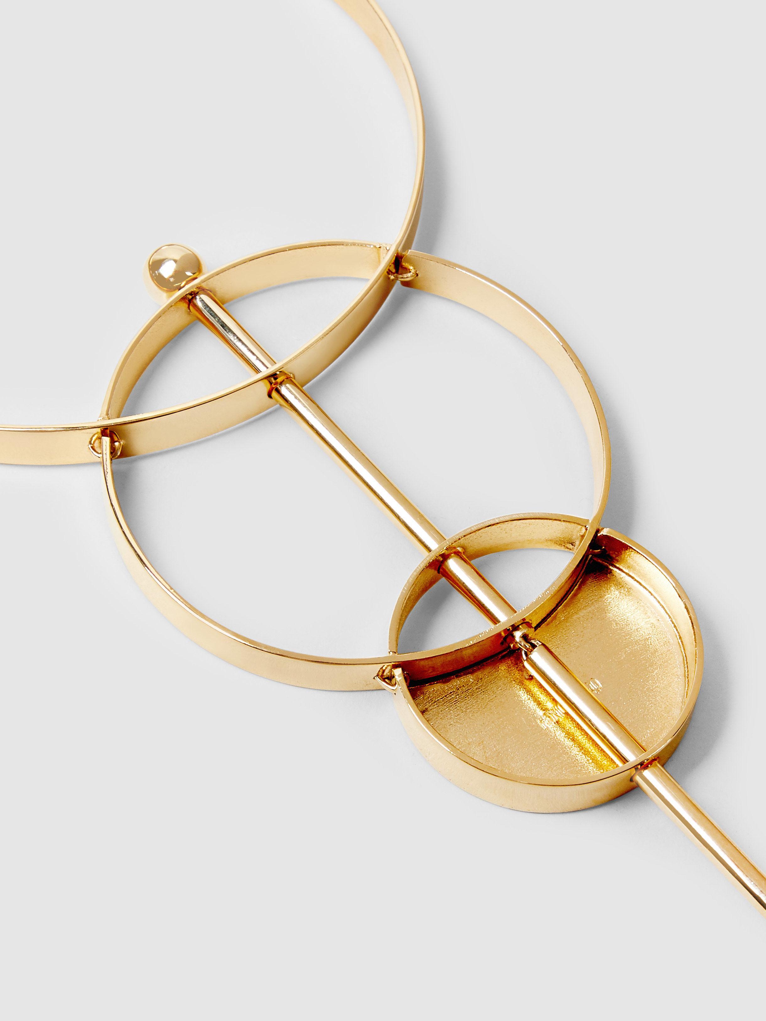Monica Sordo Silencio Gold And Silver-Tone Necklace RG6F7jY